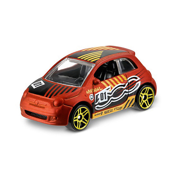 Mattel Базовая машинка Hot Wheels, Fiat 500