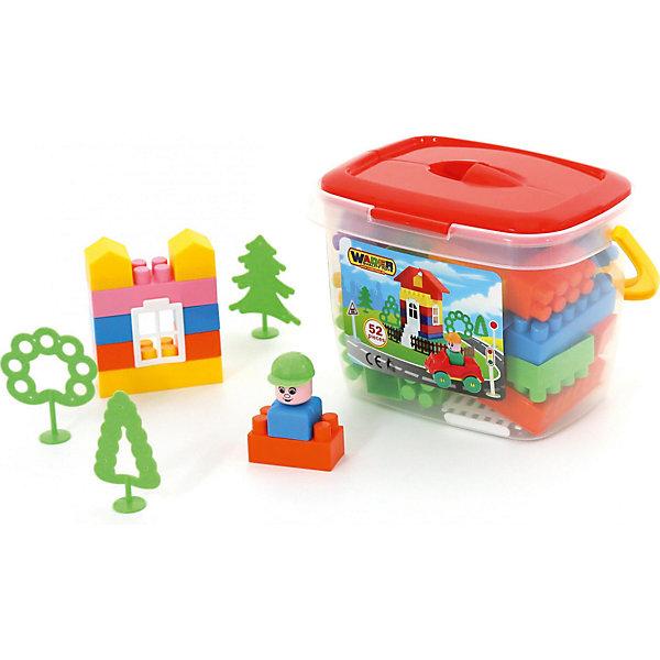 Конструктор Полесье Строитель, 52 детали (в ведерке)Конструкторы для малышей<br>Характеристики товара:<br><br>• возраст: от 3 лет;<br>• цвет: мультиколор;<br>• количество элементов: 52 шт.;<br>• материал: пластик;<br>• размер упаковки: 25x18x17 см.;<br>• упаковка: пластиковое ведерко;<br>• наименование бренда, страна бренда: Полесье, Беларусь;<br>• страна изготовитель: Беларусь.<br><br>Конструктор «Строитель» от торговой марки Полесье необходимая игрушка в любой детской комнате, которая надолго займет внимание вашего ребенка. В комплекте 52 элемента конструктора, с помощью которых ребенок сможет складывать невообразимые постройки. <br><br>Все детали конструктора имеют большие формы, изготовлены из высококачественного пластика и безопасны для здоровья малыша. Детали легко и прочно соединяются между собой.  И хранятся в компактном пластиковом ведерке с крышкой.<br><br>Игра с конструктором развивает образное и пространственное мышления, стимулирует фантазию и творческое воображение, организаторские навыки и речь.<br><br>Конструктор «Строитель», 52 элемента в ведёрке, Полесье можно купить в нашем интернет-магазине.<br>Ширина мм: 250; Глубина мм: 180; Высота мм: 170; Вес г: 573; Возраст от месяцев: 12; Возраст до месяцев: 36; Пол: Унисекс; Возраст: Детский; SKU: 7191615;