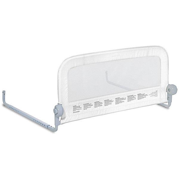 Универсальный ограничитель для кровати Single Fold Bedrail, белыйОграждения в кроватку<br>Собирается в течение нескольких минут без инструментов.<br>Подходит для матрасов с размерами 70-90х140-190 см.<br>Рекомендовано для детей от 18 месяцев до 5 лет.<br>Соответствует стандартам ASTM F2085.<br>Складывается вниз, чтобы  родители могли присесть на край кровати или легко поменять постельное белье.<br>Размеры ограничителя (ШхВхГ): 90 x 51 х 1,9 см<br>Материал: пластик, ткань, металл.<br>Ширина мм: 270; Глубина мм: 470; Высота мм: 100; Вес г: 2700; Возраст от месяцев: 18; Возраст до месяцев: 60; Пол: Унисекс; Возраст: Детский; SKU: 7191980;