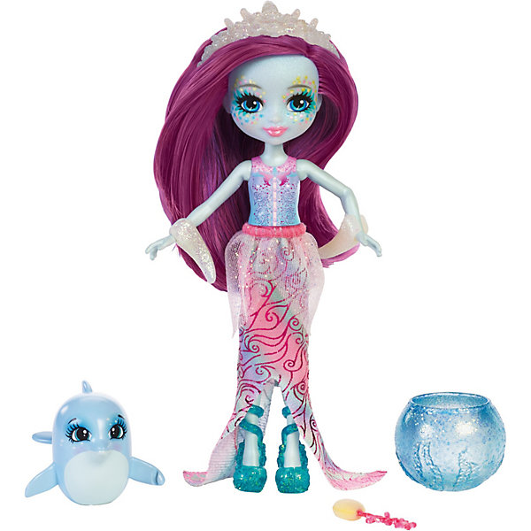 Mattel Кукла Enchantimals Морские подружки  друзьями Дольче Дельфина  дельфинчик, 15 см