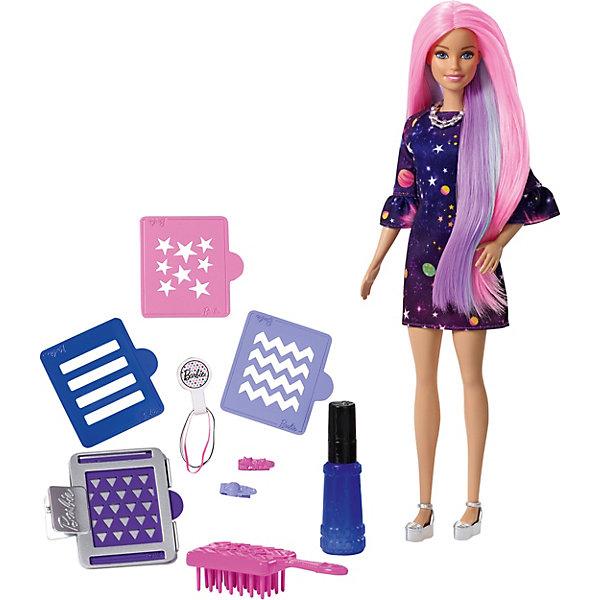 Mattel Кукла Barbie Цветной сюрприз с аксессуарами mattel mattel кукла создай прическу в наборе с аксессуарами 5 предметов