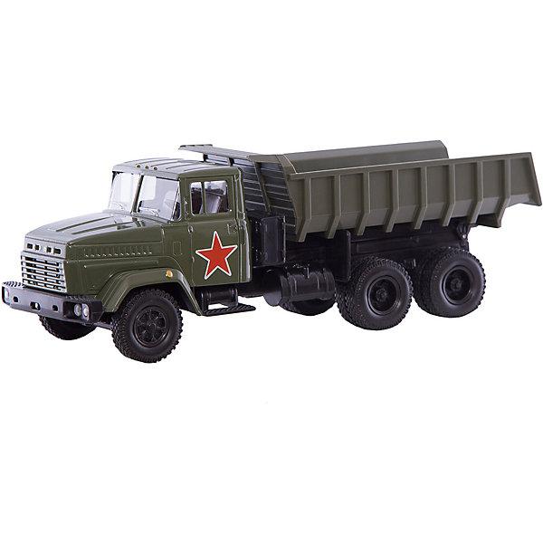Autotime Коллекционная машинка Autotime KRAZ-6510 Армейский грузовик, 1:43 autotime машинка газ 31105 волга мчс 1 43 autotime