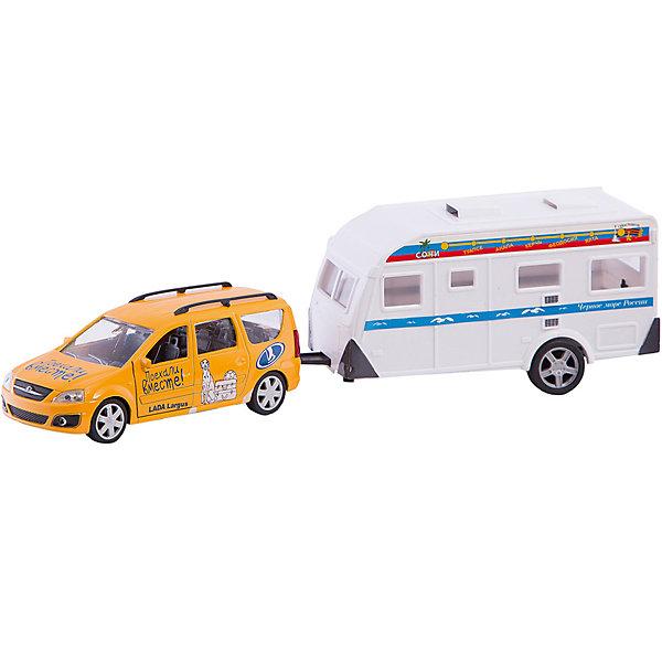 Autotime Машинка Autotime Поехали вместе! Lada Largus с домом на колесах, 1:38 autotime машинка газ 31105 волга мчс 1 43 autotime