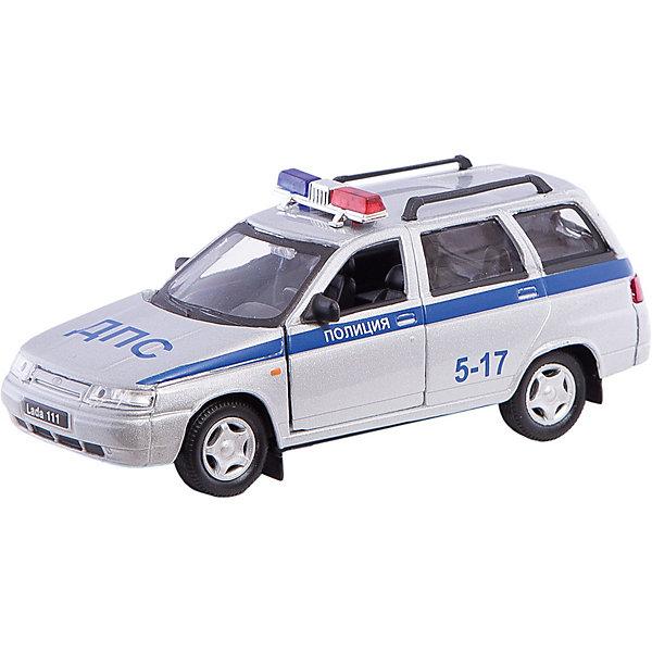 Autotime Коллекционная машинка Autotime Lada 111 Полиция, 1:36 игрушка autotime lada granta тест драйв 33961w rus