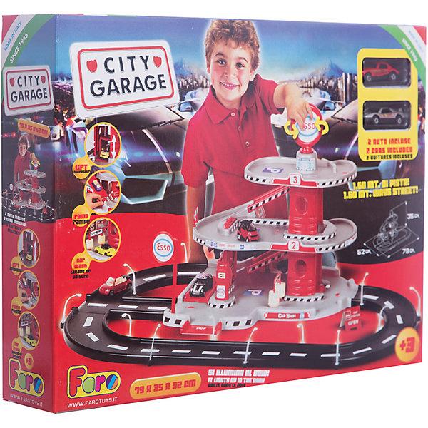 Игровой набор Faro Гараж 3 уровня, 35 смПарковки и гаражи<br>Характеристики:<br><br>• тип игрушки: игровой набор;<br>• возраст: от 3 лет;<br>• размер: 51x19x39 см;<br>• вес: 209  гр;<br>• комплектация: 2 машинки, 3 платформы, штендер, лифт-подъемник, мойка, 2 эстакады, бензозаправка, 2 стойки, картонные детали, шлагбаум, 14 фонарных столбов, наклейки;<br>• упаковка: коробка;<br>• материал: пластик, картон;<br>• бренд:  FARO.<br><br>Игровой набор «Гараж 3-уровневый» 35см предназначен для маленьких автолюбителей от 3 лет. На первом уровне парковки расположены автоматическая мойка, бензозаправка, подъёмник для сервисного осмотра и ремонта автомобиля. На втором уровне парковки расположены декоративный пульт управления подъёмником, стояночные места для машин. <br><br>На третьем уровне парковки расположен бар-ресторан (наклейки) и  места для стоянки. Лифт-подъёмник доставит автомобиль на любой уровень. Чтобы поднять машину, нужно покрутить большой рекламный штендер, установленный на самом верху.<br><br>В процессе игры у детей вырабатывается ловкость, точность и слаженность движений, сноровка и координация, развивается мелкая и крупная моторика рук, двигательная активность.<br><br>Игровой набор «Гараж 3-уровневый» 35см можно купить в нашем интернет-магазине.<br>Ширина мм: 510; Глубина мм: 100; Высота мм: 390; Вес г: 209; Возраст от месяцев: 36; Возраст до месяцев: 2147483647; Пол: Мужской; Возраст: Детский; SKU: 7193411;