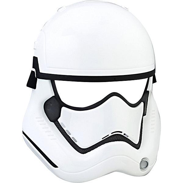 Маска героя вселенной Звездные Войны эпизод 8, Hasbro STAR WARSДругие наборы<br>Характеристикик:<br><br>• возраст: от 5 лет;<br>• материал: пластик;<br>• размер упаковки: 25,4х19,7х8,9 см;<br>• вес упаковки: 123 гр.;<br>• страна производитель: Китай.<br><br>Маска героя вселенной «Звездные войны» Hasbro создана по мотивам нового фильма космической саги «Звездные войны: эпизод 8». Она позволит детям почувствовать себя в роли одного из персонажей и устроить вместе с друзьями увлекательные захватывающие космические бои. Маска выполнена из качественного пластика.<br><br>Маску героя вселенной «Звездные войны» Hasbro можно приобрести в нашем интернет-магазине.<br>Ширина мм: 89; Глубина мм: 197; Высота мм: 254; Вес г: 123; Возраст от месяцев: 60; Возраст до месяцев: 120; Пол: Мужской; Возраст: Детский; SKU: 7194003;