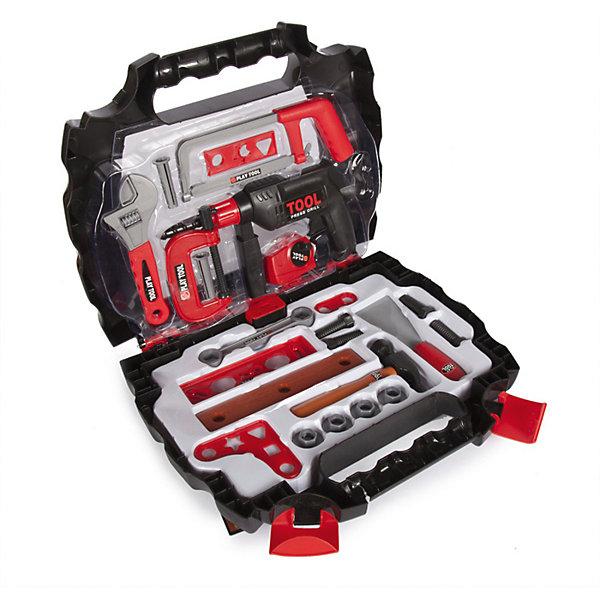 Набор инструментов Altacto Специалист, 27 предметовНаборы инструментов<br>Характеристики товара:<br><br>• возраст: от 3 лет;<br>• размер упаковки: 33,5х36х3 см.;<br>• количество предметов: 27;<br>• состав: пластик;<br>• упаковка: пластиковый кейс;<br>• вес в упаковке: 1,1 кг.;<br>• бренд, страна: ALTACTO, Китай;<br>• страна-производитель: Китай.<br><br>Игровой набор «Специалист» от Altacto станет отличным подарком для маленького мастера.<br><br>В наборе имеется все, что может пригодиться юному строителю: инерционная дрель с дополнительной рукояткой, разводной ключ, гаечный ключ, струбцина, молоток, отвертка, пассатижи, защитные очки, скобяные изделия. <br><br>Все инструменты аккуратно складываются в специальный кейс. Набор удобно хранить и переносить. Все изделия набора изготовлены из нетоксичного и качественного материала.<br><br>Игры с этим набором способствуют развитию воображения и познавательного мышления.<br><br>Игровой набор «Специалист», 27 предметов, Altacto можно купить в нашем интернет-магазине.<br>Ширина мм: 335; Глубина мм: 360; Высота мм: 30; Вес г: 1117; Возраст от месяцев: 36; Возраст до месяцев: 2147483647; Пол: Мужской; Возраст: Детский; SKU: 7194104;