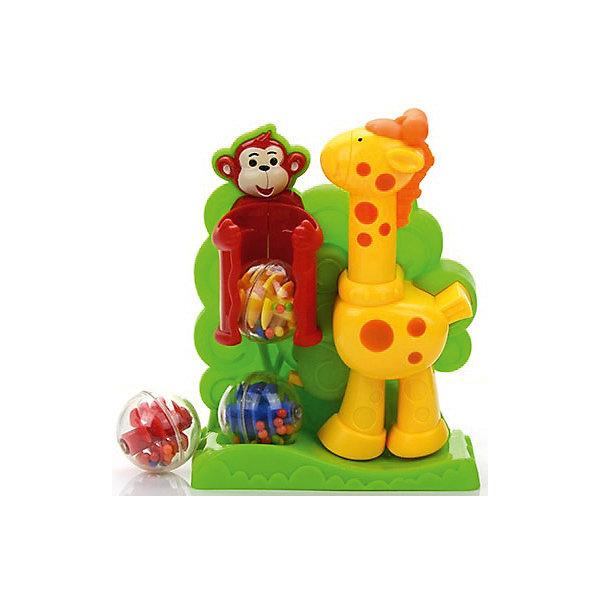 Развивающая игрушка Малышарики ЖирафРазвивающие центры<br>Характеристики товара:<br><br>• возраст: от 3 лет;<br>• размер упаковки: 25х25х8 см.;<br>• состав: пластик;<br>• упаковка: картонная коробка;<br>• вес в упаковке: 500 гр.;<br>• бренд, страна: Малышарики, Россия;<br>• страна-производитель: Китай.<br><br>Развивающая игра с шариками «Жираф» - эта игрушка подарит много положительных эмоций малышу. Развивает мелкую моторику, координацию, логическое мышление и концентрацию внимания. <br><br>Чтобы начать игру поместите шарики в обезьянку, нажмите жирафу на голову и скорее ловите шарик! Вращаясь внутри мячиков, шарики издают приятные для слуха гремящие звуки, что, несомненно порадует подрастающих меломанов.<br><br>Многофункциональная игрушка в виде забавных жирафика и обезьянки идеально подходит для повседневных игр Вашего любознательного крохи.<br><br>Игрушка выполнена в ярком дизайне и из безопасных материалов.<br><br>Развивающую игру с шариками «Жираф», Малышарики, можно купить в нашем интернет-магазине.<br>Ширина мм: 250; Глубина мм: 250; Высота мм: 80; Вес г: 490; Возраст от месяцев: 12; Возраст до месяцев: 2147483647; Пол: Унисекс; Возраст: Детский; SKU: 7194156;