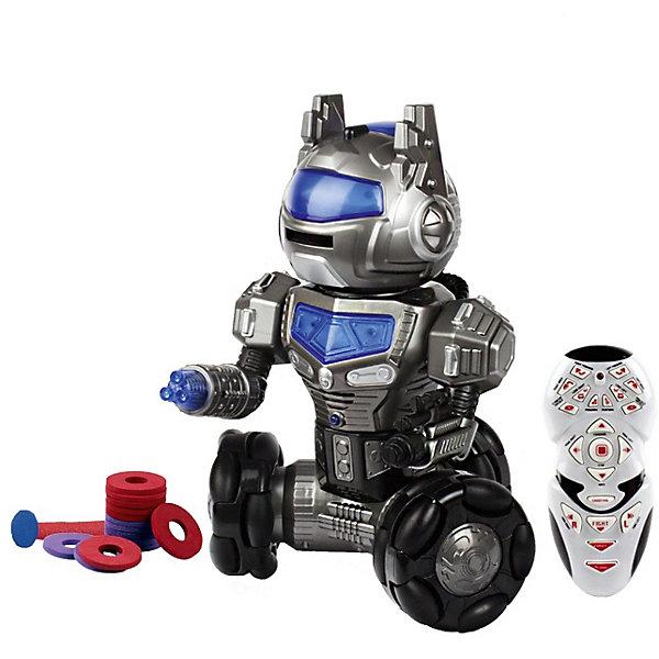 Радиоуправляемый робот Mioshi RobobotРоботы-игрушки<br>Характеристики товара:<br><br>• возраст: от 3лет;<br>• размер упаковки: 25,5х29,5х40,5 см.;<br>• состав: пластик;<br>• упаковка: картонная коробка;<br>• вес в упаковке: 2,1.;<br>• бренд, страна: Mioshi Active, Китай;<br>• страна-производитель: Китай.<br><br>Робот с  управлением «Robobot» - необычный робот на колёсах с яркой подсветкой и звуковым сопровождением. Поворачивает головой, выполняет 12 программ и стреляет мягкими дисками.<br><br>В наборе: робот, пульт управления, мягкие диски, инструкция на русском языке.<br><br>Игры с таким роботом развивают логическое мышление, воображение, мелкую моторику и коммуникабельность.<br><br>Робот с  управлением «Robobot» от Mioshi Active можно купить в нашем интернет-магазине.<br>Ширина мм: 255; Глубина мм: 295; Высота мм: 405; Вес г: 2118; Возраст от месяцев: 36; Возраст до месяцев: 2147483647; Пол: Мужской; Возраст: Детский; SKU: 7194198;