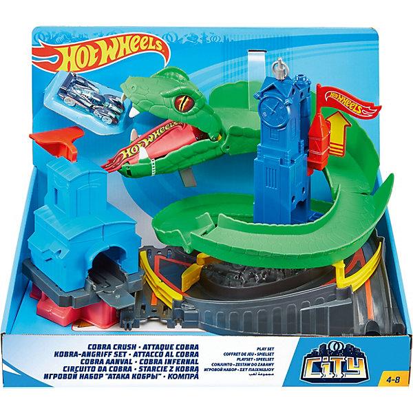 Mattel Автотрек Hot Wheels Бросок Кобры mattel автотрек hot wheels с монстрами злодеями атака паука в парке