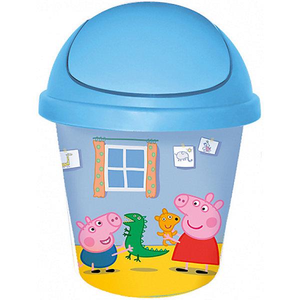 Мусорная корзина Little Angel Свинка Пеппа 7 л., круглая (голубая)Мусорные ведра<br>Характеристики:<br><br>• принт: Свинка Пеппа<br>• объем: 7 л.<br>• материал: пластик<br>• размер: 26,7х26,7х33 см.<br>• вес: 360 гр.<br><br>Веселая и стильная мусорная корзина «Свинка Пеппа» поможет приучить ребенка к порядку. Декор корзины выполнен с помощью износостойкой технологии IML, что придает каркасу дополнительную прочность и позволяет мыть корзину без опасения испортить рисунок.<br><br>Компактная и вместительная мусорная корзина «Свинка Пеппа» идеально впишется в интерьер детской комнаты.<br><br>Дополнительно можно приобрести комод «Свинка Пеппа» и ящик для хранения «Свинка Пеппа».<br><br>Детскую мусорную корзину круглую 7л. Свинка Пеппа голубую можно купить в нашем интернет-магазине.<br>Ширина мм: 267; Глубина мм: 267; Высота мм: 330; Вес г: 429; Возраст от месяцев: 24; Возраст до месяцев: 60; Пол: Мужской; Возраст: Детский; SKU: 7196261;