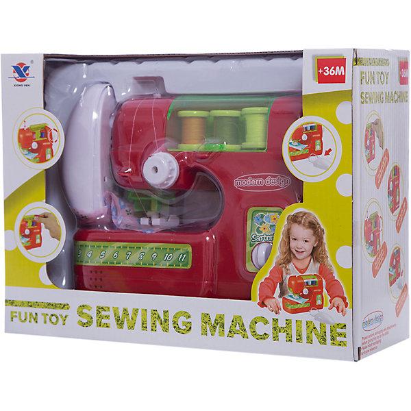 Швейная машинка Shantou Gepai Fun toyИгрушечная бытовая техника<br>Характеристики:<br><br>• тип игрушки: швейная машина;<br>• возраст: от 3 лет;<br>• упаковка: пластик, текстиль; <br>• размер: 26,5х10,5х20 см;<br>• вес:  619 гр;<br>• бренд: Shantou Gepai. <br><br>Швейная машина электронная  свет, звук. Машинка станет хорошим подарком для маленькой хозяйки. Такая игрушка поможет девочке овладеть первым бытовыми навыками.  Игрушечная швейная машинка подойдет любой девочке, которая имеет творческие способности. Швейная машинка имеет специальный механизм, работающий на батарейках, позволяющий ей шить по-настоящему.<br> <br>В комплект с машинкой идут катушки с нитками. К тому же, игрушка оснащена световыми и звуковыми эффектами. Играть с такой швейной машинкой - огромное удовольствие, с ней можно освоить швейное мастерство, а также развить творческое мышление и воображение. <br><br>Швейную машину электронную  свет, звук можно купить в нашем интернет-магазине.<br>Ширина мм: 265; Глубина мм: 105; Высота мм: 200; Вес г: 619; Возраст от месяцев: 36; Возраст до месяцев: 2147483647; Пол: Женский; Возраст: Детский; SKU: 7196481;