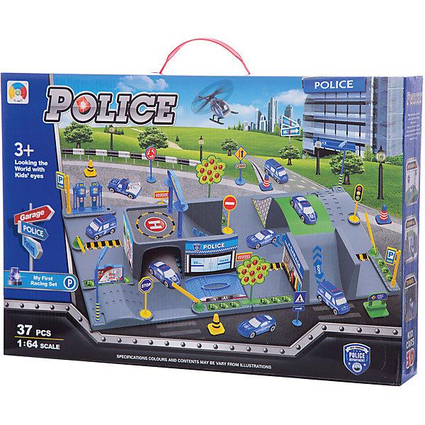 Парковка Shantou Gepai ПолицияПарковки и гаражи<br>Характеристики:<br><br>• тип игрушки: паркинг;<br>• возраст: от 3 лет;<br>• упаковка: пластик;<br>• размер: 45х6,5х31 см;<br>• вес: 804 гр;<br>• бренд: Shantou Gepai. <br><br>Паркинг «Полиция» понравится любителем машинок и гонок. С данным набором ребенок сможет собрать игрушечную полицейскую станцию, на которой можно парковать машинки специальных служб. Набор, выполненный в масштабе 1:64, состоит из трех машинок, вертолета и паркинга. <br><br>Вся конструкция изготовлена из пластика и включает в себя дороги с оградительными элементами, знаки, места для стоянок автомобилей и другие дополнительные аксессуары (всего 37 элементов). Все детали отлично крепятся друг к другу, поэтому у ребенка, для которого будет предназначен этот набор, не возникнет трудностей со сборкой.<br><br>С собранной полицейской станцией можно придумать множество разных игр. Например, ребенок сможет устроить штаб-квартиру или стоянку для оштрафованных машин. Ребенок придет в восторг от такого набора. Игрушка отлично подходит в виде подарка для детей от трех лет и старше.<br><br>Паркинг «Полиция» можно купить в нашем интернет-магазине.<br>Ширина мм: 450; Глубина мм: 65; Высота мм: 310; Вес г: 804; Возраст от месяцев: 36; Возраст до месяцев: 2147483647; Пол: Мужской; Возраст: Детский; SKU: 7196485;