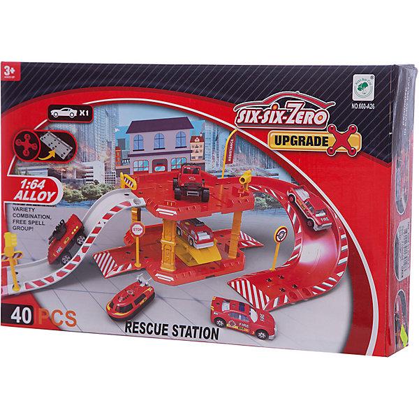 Парковка Shantou Gepai Пожарная служба 2 уровня + 1 машинаПарковки и гаражи<br>Характеристики:<br><br>• тип игрушки: парковка;<br>• возраст: от 3 лет;<br>• упаковка: пластик;<br>• размер: 37х7х24 см;<br>• вес: 658 гр;<br>• бренд: Shantou Gepai. <br><br>Парковка «Пожарная служба» 2 уровня понравится любителем машинок и гонок.  С игрушечной парковкой ребенок сможет придумать множество увлекательных и захватывающих сюжетов для различных игр. Всего в наборе присутствуют 40 деталей, из которых можно будет собрать пожарную парковку. <br><br>Сделать это будет не трудно, так как все детали соединяются между собой легко. Помимо деталей для сборки участка, в наборе присутствуют машинки и различные аксессуары, с которыми игровой процесс станет очень увлекательным и реалистичным.<br><br>Игра с данным набором поспособствует развитию логического мышления, воображения и подарит массу положительных эмоций. Ребенок придет в восторг от такого набора. Игрушка отлично подходит в виде подарка для детей от трех лет и старше.<br><br>Парковку «Пожарная служба» 2 уровня можно купить в нашем интернет-магазине.<br>Ширина мм: 370; Глубина мм: 70; Высота мм: 240; Вес г: 658; Возраст от месяцев: 36; Возраст до месяцев: 2147483647; Пол: Мужской; Возраст: Детский; SKU: 7196509;