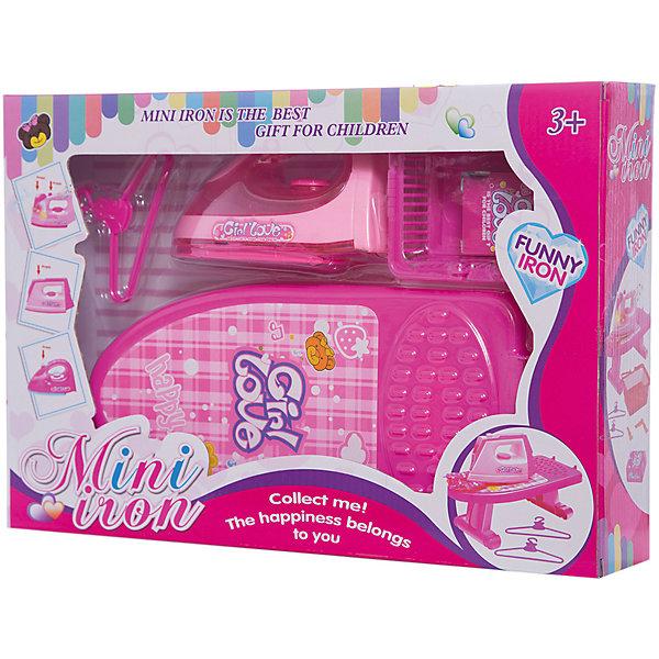 Набор для уборки Shantou Gepai Гладильная доска с утюгомНаборы для уборки<br>Характеристики:<br><br>• тип игрушки: гладильная доска;<br>• возраст: от 3 лет;<br>• упаковка: пластик;<br>• размер: 36,5х7,5х25 см;<br>• вес: 544 гр;<br>• бренд: Shantou Gepai. <br><br>Набор «Гладильная доска с утюгом и аксессуарами» - это игровой набор для глажки, который  создан специально для маленьких хозяек. В набор входят такие предметы как утюг, гладильная доска и корзина для белья. Все выполнено в розовом цвете. С таким набором девочка почувствует себя настоящей хозяюшкой совсем, как ее мама. <br><br>Комплект изготовлен из пластмассы ярких цветов. Все используемые материалы не токсичны и подходят для игры детей возрастом от трех лет и старше.<br><br>Набор «Гладильная доска с утюгом и аксессуарами» можно купить в нашем интернет-магазине.<br>Ширина мм: 365; Глубина мм: 75; Высота мм: 250; Вес г: 544; Возраст от месяцев: 36; Возраст до месяцев: 2147483647; Пол: Женский; Возраст: Детский; SKU: 7196519;