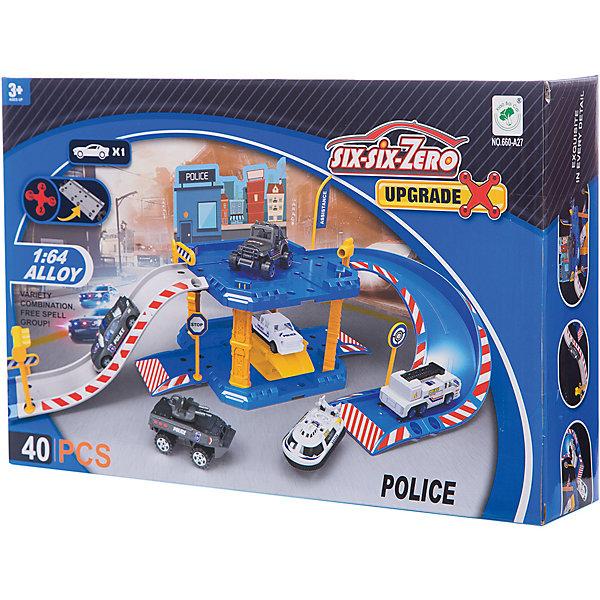 Shantou Gepai Парковка Shantou Gepai Полицейская станция 2 уровня + 1 машина majorette игровой набор парковка полицейская станция