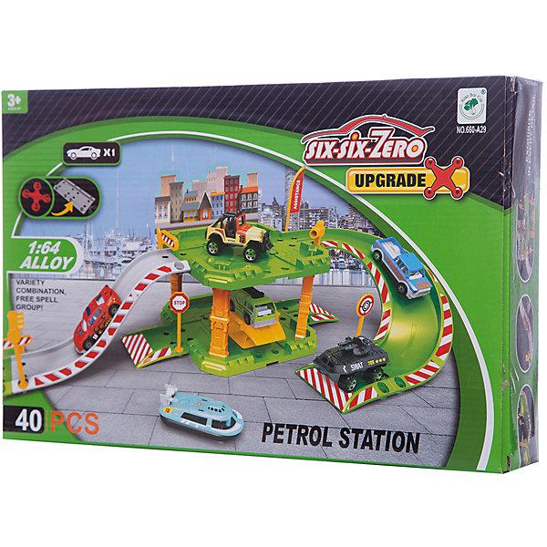 Парковка Shantou Gepai Автозаправочная станция 2 уровня + 1 машинаПарковки и гаражи<br>Характеристики:<br><br>• тип игрушки: парковка;<br>• возраст: от 3 лет;<br>• упаковка: пластик;<br>• размер: 36,5х7х24 см;<br>• вес: 656 гр;<br>• бренд: Shantou Gepai. <br><br>Парковка «Автозаправочная станция», 2 уровня, 40 дет.  понравится любителем машинок и гонок. Это целый игрушечный комплекс, включающий в себя 40 деталей. <br><br>Среди них можно найти и элементы двухуровневой парковки, и наклонные пандусы, ведущие на второй этаж, и множество других дополнительных аксессуаров, которые помогут разнообразить вариации игровых действий. На заправку могут заезжать автомобили, а ребенок, выступающий в качестве администратора и рабочего парковки, должен привести машины клиентов в порядок.<br><br>Игра с данным набором поспособствует развитию логического мышления, воображения и подарит массу положительных эмоций. Ребенок придет в восторг от такого набора. Игрушка отлично подходит в виде подарка для детей от трех лет и старше.<br><br>Парковку «Автозаправочная станция», 2 уровня, 40 дет. можно купить в нашем интернет-магазине.<br>Ширина мм: 365; Глубина мм: 70; Высота мм: 240; Вес г: 656; Возраст от месяцев: 36; Возраст до месяцев: 2147483647; Пол: Мужской; Возраст: Детский; SKU: 7196563;