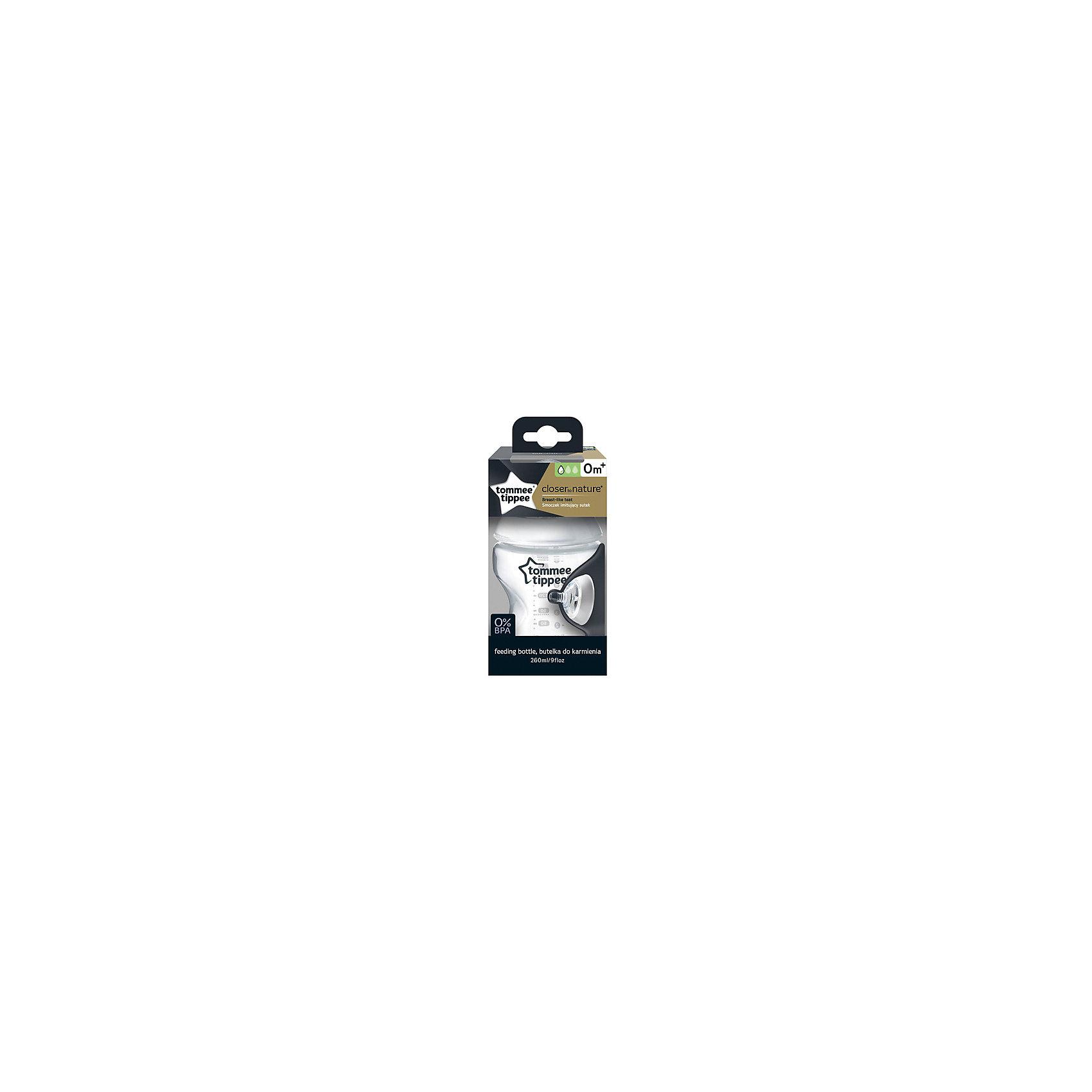 Бутылочка для кормления Tommee Tippee Closer To Nature с антиколиковым клапаном, 260 мл