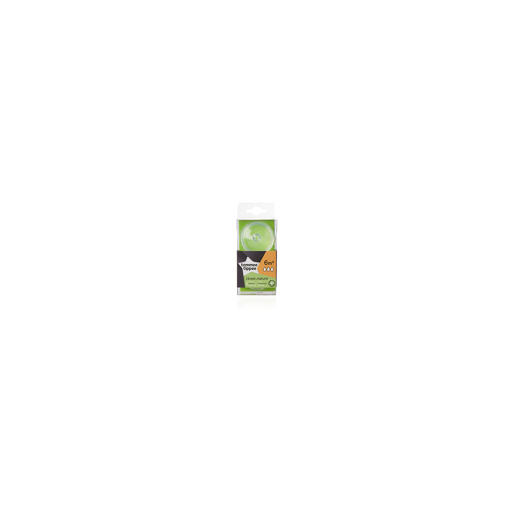 Cоски для антиколиковой бутылочки Tommee Tippee Close to nature, с 6 мес., быстрый поток, 2 шт.