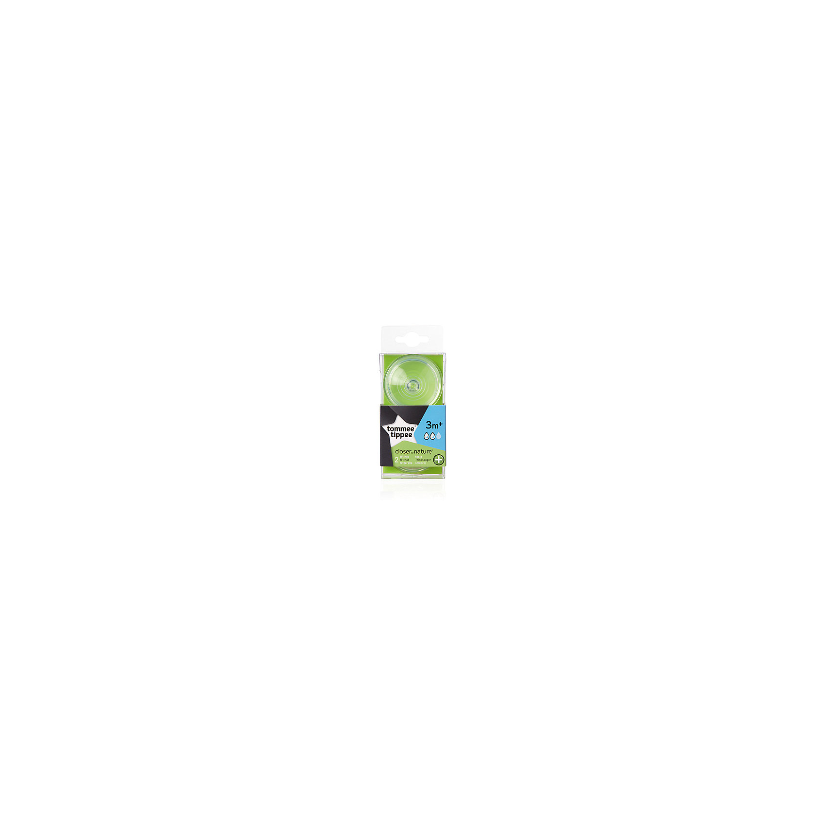 Cоски для антиколиковой бутылочки Tommee Tippee Close to nature, с 3 мес., средний поток, 2 шт.