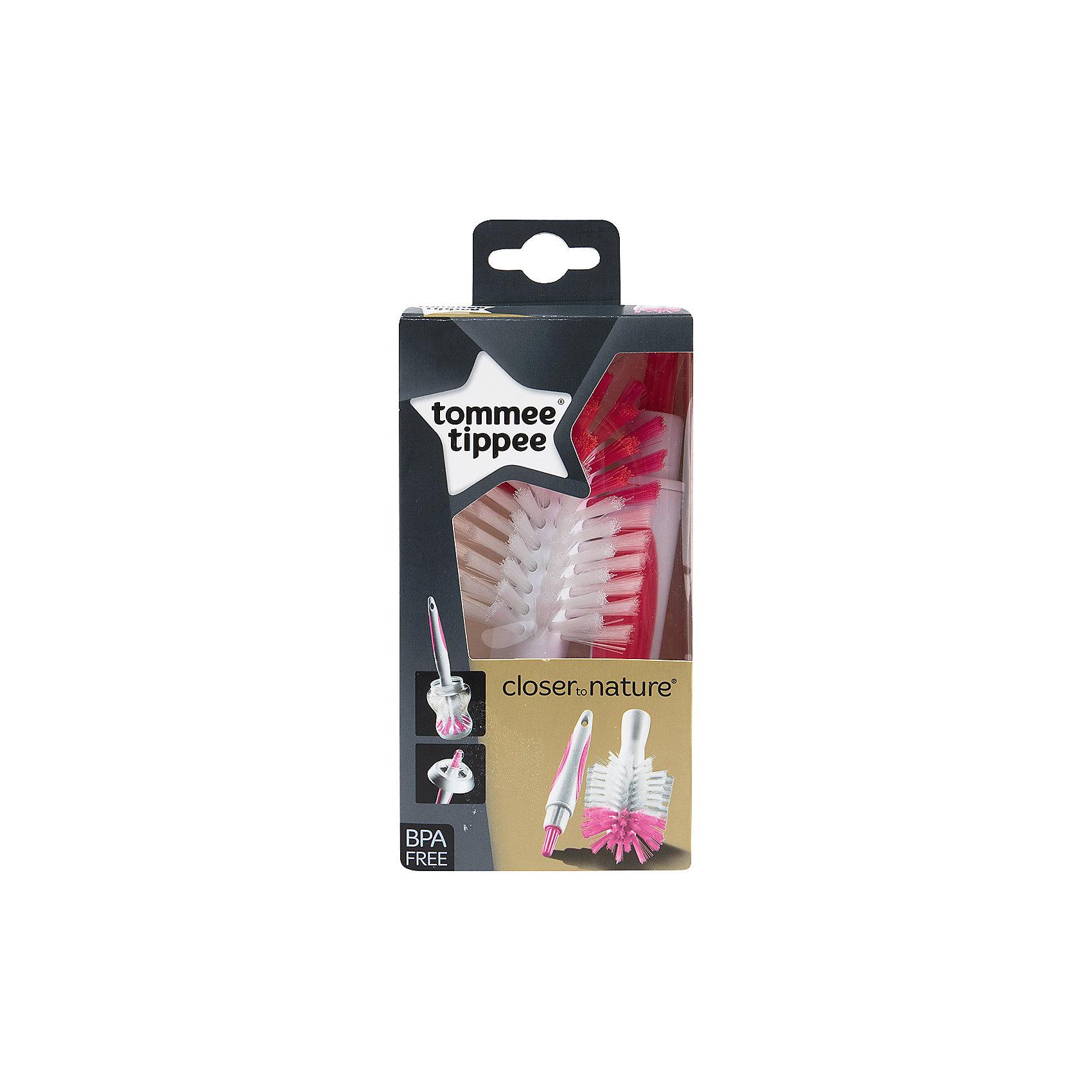 Щетка для мытья бутылочек и сосок Tommee Tippee, розовая