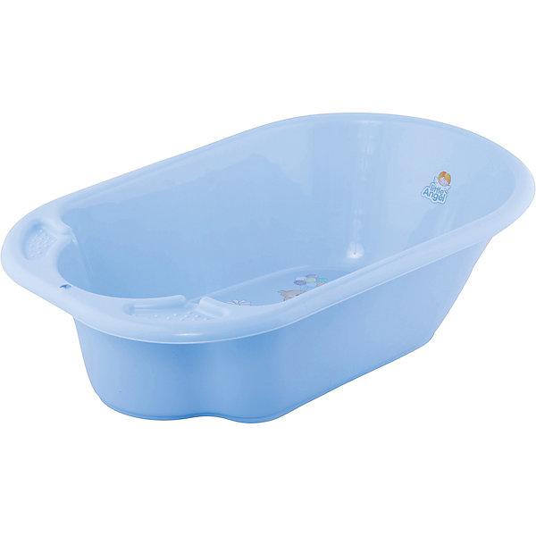 Little Angel Детская ванночка Little Angel Дельфин с дизайном Bears (голубая) ванночка для купания summer infant джакузи с душем lil' luxuries голубая 18863