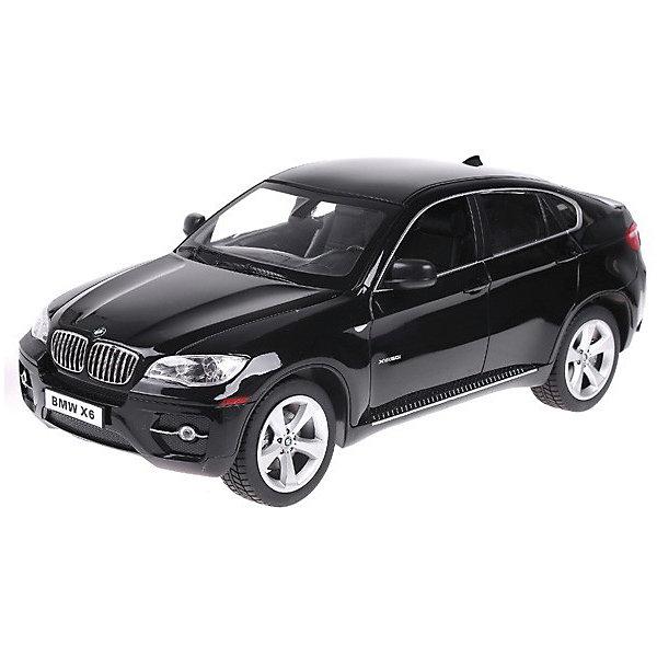 Rastar Радиоуправляемая машина Rastar BMW X6, 1:14 (черная) rastar радиоуправляемая модель bmw x6 цвет черный масштаб 1 24