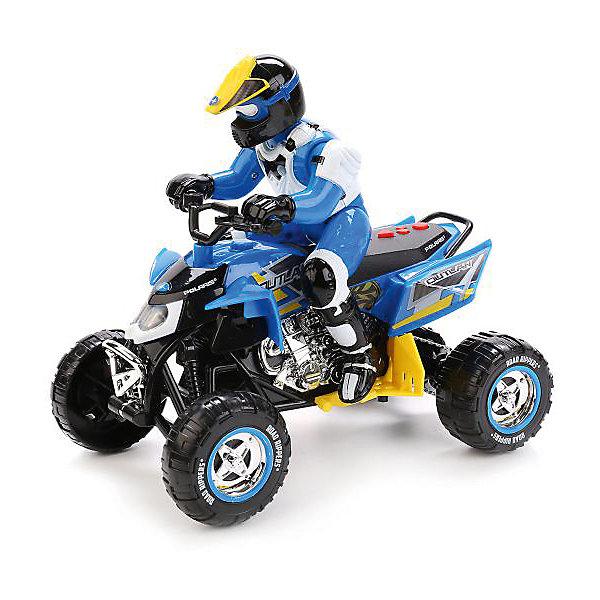 Квадроцикл Toystate с гонщиком (бело-синий)Машинки<br>Характеристики:<br><br>• транспортное средство с гонщиком;<br>• световые и звуковые эффекты;<br>• веселые мелодии;<br>• материал: металл, пластик;<br>• тип батареек: 3 шт. типа АА;<br>• батарейки приобретаются отдельно;<br>• длина квадроцикла: 25 см;<br>• размер упаковки: 30х16х26 см; <br>• вес в упаковке: 1050 кг.<br><br>Игрушечный квадроцикл с фигуркой гонщика оснащен свето-звуковыми эффектами. Прочный корпус транспортного средства выполнен из комбинированного пластика и металла. В процессе игры развивается координация движений, слуховое и зрительное восприятие. <br><br>Квадроцикл/трицикл со светом и звуком, с гонщиком, сине-белый можно купить в нашем интернет-магазине.<br>Ширина мм: 300; Глубина мм: 160; Высота мм: 260; Вес г: 1050; Возраст от месяцев: 36; Возраст до месяцев: 84; Пол: Мужской; Возраст: Детский; SKU: 7197003;