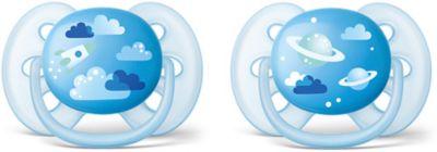 Силиконовая-пустышка Philips Avent, 6-18 мес, 2шт., голубая, артикул:7197096 - Уход и гигиена