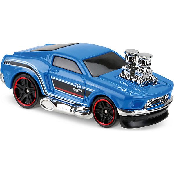Базовая машинка Hot Wheels, 68 MustangПопулярные игрушки<br>Характеристики:<br><br>• возраст: от 3 лет;<br>• тип игрушки: легковой транспорт;<br>• цвет: синий;<br>• особенности: инерционная;<br>• материал: пластик, металл; <br>• размер: 11х4,5х11 см;<br>• вес: 30 гр;<br>• страна бренда: США;<br>• страна производитель: Китай;<br>• тип упаковки: блистер на картоне;<br>• эффекты: без эффектов.<br><br><br>Машинка Hot Wheels «68 Mustang» бренда Mattel представляет собой мощнейший гоночный автомобиль, который станет достойным пополнением автопарка мальчика. Легендарная серия коллекционных машинок завоевала внимание всех детей. Быстрые и красочные  машинки Hot Wheels выглядят очень ярко и эффектно благодаря оригинальному дизайну. Они выполнены из металла и пластика, что гарантирует прочность и устойчивость к столкновениям. <br><br>Двухместная машинка раскрашена в синий цвет. Автомобиль создан из проверенных и безопасных материалов. Его особенность – красавец мотор, который располагается прямо над капотом.  Передний черный бампер модели практически касается земли и выглядит очень стильно. Игрушка выполнена из безопасных и нетоксичных материалов.<br><br>Стильная игрушка станет отличным подарком для ребенка от трех лет. Кроме того, малыш сможет собрать целую коллекцию этих популярных машинок и обмениваться ими с друзьями. Машинка Hot Wheels «68 Mustang» во время гонки не оставит равнодушным ни одного мальчика. <br><br>Машинку Hot Wheels «68 Mustang» можно купить в нашем интернет-магазине.<br>Ширина мм: 110; Глубина мм: 45; Высота мм: 110; Вес г: 30; Возраст от месяцев: 36; Возраст до месяцев: 96; Пол: Мужской; Возраст: Детский; SKU: 7198112;