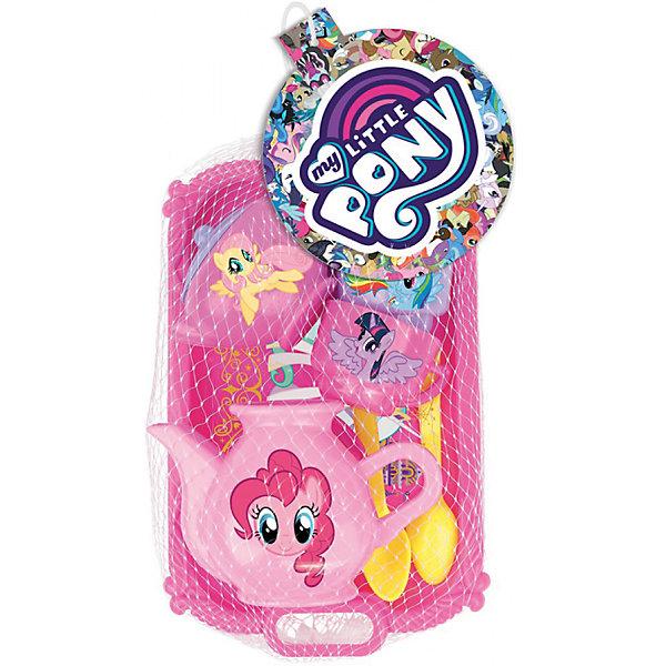 Набор посуды EstaBella My Little Pony, на 2 персоныДетские кухни<br>Характеристики товара:<br><br>• возраст: от 3 лет<br>• материал:пластик.<br>• размер упаковки: 13х22х7 см.<br>• упаковка: картонная коробка открытого типа.<br>• страна обладатель бренда: Китай.<br><br>Чайный набор от торговой марки «My Little Pony» - замечательный подарок для маленькой хозяйки. Он займет достойное место на детской игровой кухне и поможет устроить кукольное чаепитие. <br><br>В комплект входят: чайник, 2 чашки, 2 блюдца и 2 десертные ложечки.  Чашечки и чайник украшены изображением пони из мультика.<br><br>Чайный набор от торговой марки «My Little Pony» можно купить в нашем интернет-магазине.<br>Ширина мм: 130; Глубина мм: 220; Высота мм: 70; Вес г: 138; Возраст от месяцев: 36; Возраст до месяцев: 2147483647; Пол: Женский; Возраст: Детский; SKU: 7198953;