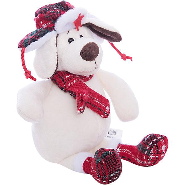 TEDDY Собака в ушанке с шарфом, 18см