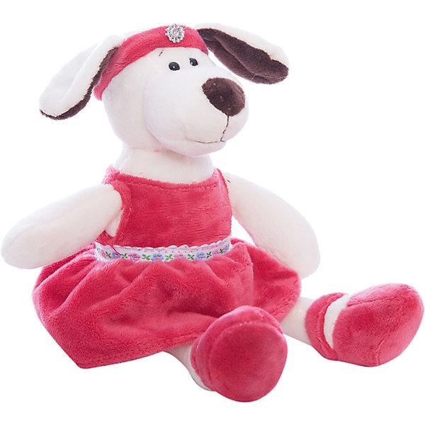 Собака в платье с повязкой, 16смСимвол года<br>Характеристики товара:<br><br>• возраст: от 3 лет<br>Для девочек<br>• материал: искусственный мех, наполнитель, пластик;<br>• размер упаковки: 16х16х13 см;<br>• высота игрушки: 16 см.<br><br>Мягкая игрушка Собака в платье с повязкой способна привести в восторг любого ребенка. Она выполнена в виде собачки, на которую надето красивое платье красного цвета и повязка соответствующего цвета. <br><br>Плюшевого питомца приятно держать в руках. Компактный размер игрушки позволит ребенку всюду брать ее с собой.<br><br>Teddy, Собаку в платье с повязкой можно купить в нашем интернет-магазине.<br>Ширина мм: 160; Глубина мм: 130; Высота мм: 160; Вес г: 67; Возраст от месяцев: 36; Возраст до месяцев: 180; Пол: Унисекс; Возраст: Детский; SKU: 7199794;