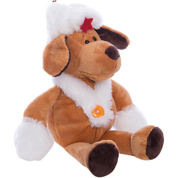 Собака в белой ушанке, 16cмСимвол 2018 года: Собака<br>Характеристики товара:<br><br>• возраст: от 3 лет<br>• материал: текстиль, наполнитель, пластик, плюш.<br>• размер упаковки: 7х10х5 см;<br>• высота игрушки: 16 см.<br><br>Мягкая игрушка Собака в белой ушанке в качестве подарка порадует ребенка и взрослого человека. Этот симпатичный песик выглядит очень серьезным, но он будто смотрит добрым, дружелюбным и преданным взглядом. На песике надеты шапка-ушанка с завязками и красной звездой, а также меховой воротник, застегнутый на пуговицу. <br><br>Игрушка сшита из качественного искусственного меха и наполнителя с использованием пластиковой фурнитуры.<br><br>Teddy, Собаку в белой ушанке можно купить в нашем интернет-магазине.<br>Ширина мм: 160; Глубина мм: 120; Высота мм: 250; Вес г: 68; Возраст от месяцев: 36; Возраст до месяцев: 180; Пол: Унисекс; Возраст: Детский; SKU: 7199795;