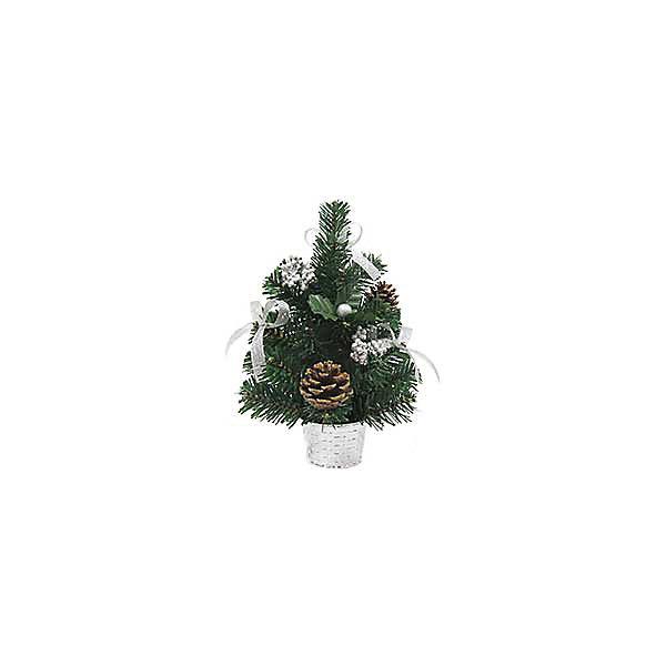 Новогодняя елка Magic Land, 30 см (декорированная)Искусственные ёлки<br>Характеристики товара:<br><br>материал: металл, пластик, ПВХ;<br>размер :30 см;<br>упаковка: п/э пакет+стикер;<br>не рекомендуется детям младше 3 лет.<br><br>Елочка в горшке Magic Land украсит интерьер во время зимних праздников. Она украшена ленточками и шишками.  <br><br>Елку с уекрашениями 30 см можно купить в нашем интернет-магазине.<br>Ширина мм: 330; Глубина мм: 147; Высота мм: 104; Вес г: 166; Возраст от месяцев: 36; Возраст до месяцев: 2147483647; Пол: Унисекс; Возраст: Детский; SKU: 7199826;