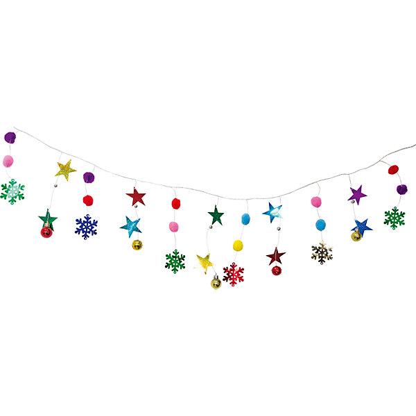 Волшебная страна Новогодняя гирлянда Magic Land звезды и снежинки, 1,75 м