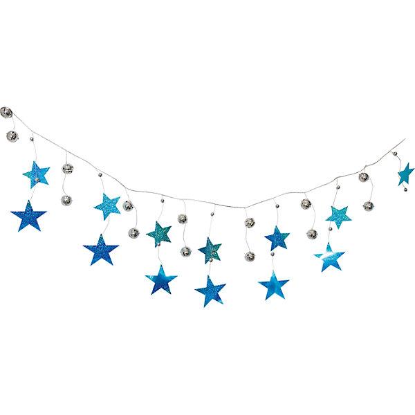 Новогодняя гирлянда Magic Land шарики, звезды и нити, 2 мНовогодняя мишура и бусы<br>Характеристики:<br><br>• возраст: от 3 лет;<br>• цвет: голубой;<br>• размер: 2 см;<br>• вес: 135 гр;<br>• страна производитель: Китай;<br><br>Гибкая гирлянда украсит дом к празднику и создаст новогоднее настроение для всей семьи. Ребенок с удовольствием примет участие в таком увлекательном процессе. <br><br>Гирлянду из шариков и звездочек можно купить в нашем интернет-магазине.
