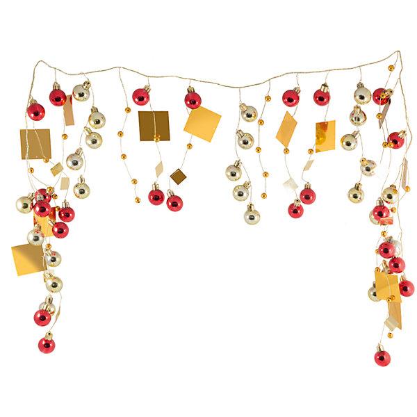 Волшебная Страна Новогодняя гирлянда Magic Land красно-золотые шары, 1,3 м