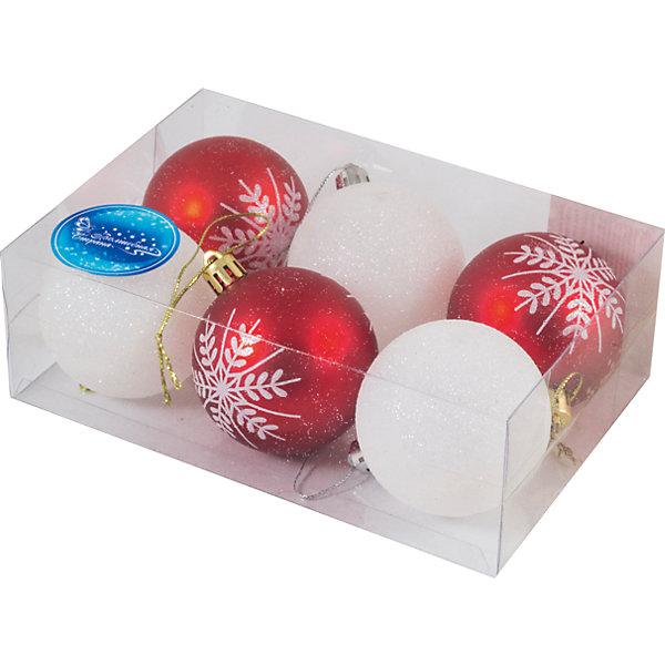 Волшебная Страна Набор шаров Magic Land 6 шт, 6 см snowlife набор из 4х шаров 8 см диам стекло 50378