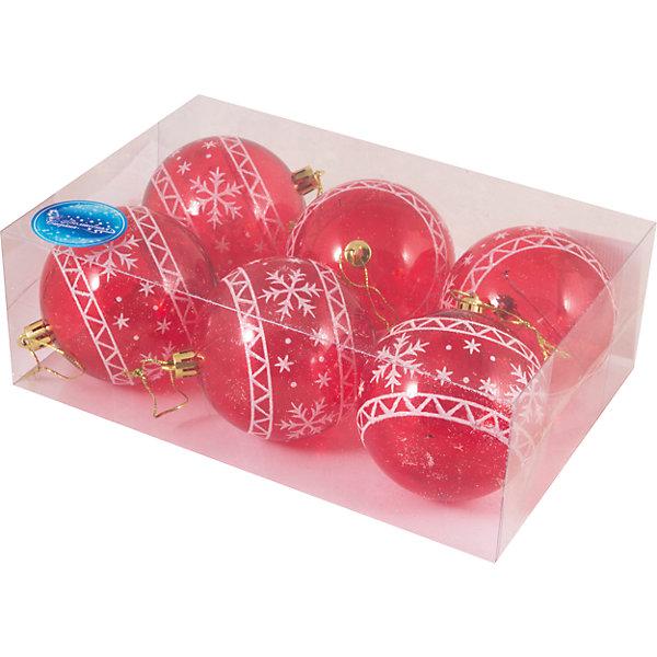 Волшебная Страна Набор шаров Magic Land 6 шт, 8 см набор шаров стекло 80мм 6шт розовый