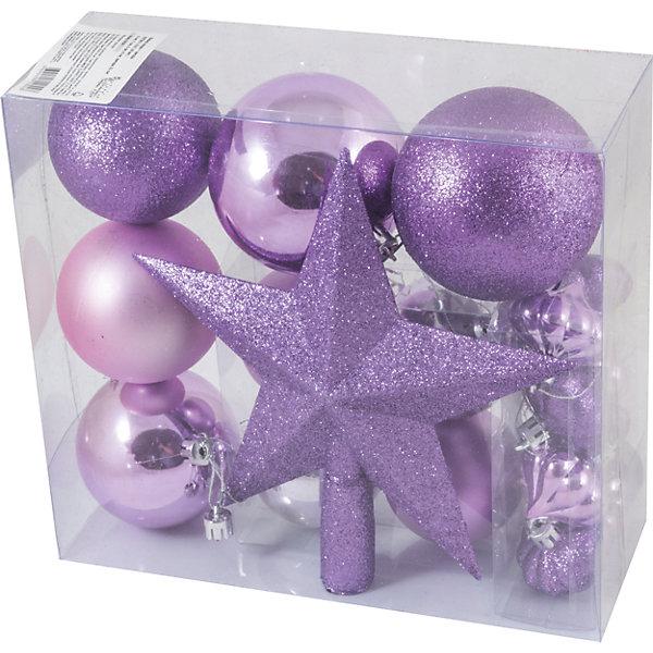 Волшебная страна Новогодний набор Magic Land, шары + звезда, 18 шт шар фольгированный agura звезда 21 inch pomegranate mystic 3857959