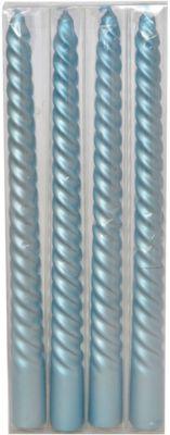 Набор свечей  Классика  25 см, 4 шт (голубые), артикул:7220658 - Сервировка праздничного стола