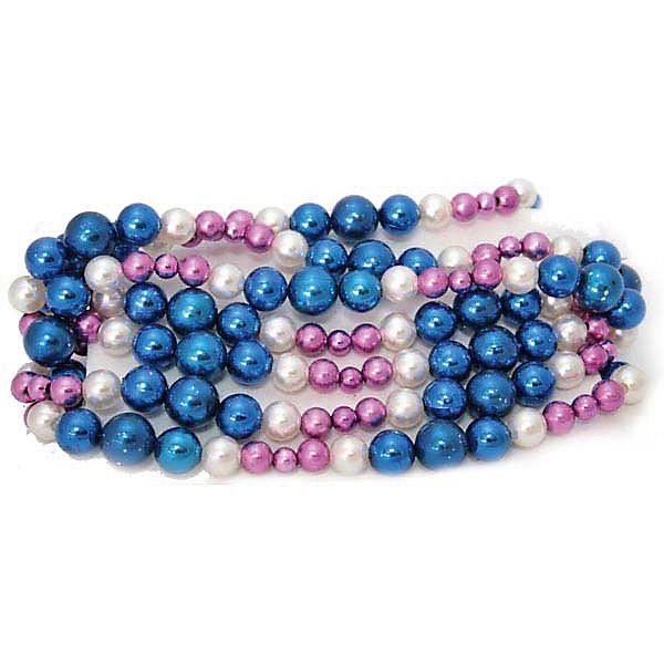 Елочные бусы Winter Wings блестящие, 2,7 см (голубой, розовый)Новогодняя мишура и бусы<br>Характеристики товара:<br><br>• возраст: от 3 лет;<br>• упаковка: пакет;<br>• вес: 70 гр.;<br>• количество: 1 шт.;<br>• цвет: мультиколор;<br>• длина: 2,7 м.;<br>• форма: фигруная;<br>• материал: полимерный материал;<br>• бренд, страна бренда: Winter Wings (Винтер Вингс), Канада;<br>• страна-производитель: Китай.<br><br>Украшение декоративное «БУСЫ» от торговой марки Winter Wings прекрасно подойдет для праздничного декора новогодней ели. Изделие выполнено из качественного полимерного материала с глянцевой факурой .<br><br>Елочная игрушка - символ Нового года и Рождества. Она несет в себе волшебство и красоту праздника. Создайте в своем доме атмосферу веселья и радости, украшая новогоднюю елку нарядными игрушками, которые будут из года в год накапливать теплоту воспоминаний. <br><br>Компания  Winter Wings  - настоящий эксперт в оригинальных качественных новогодних украшениях, один из самых широких новогодних ассортиментов на российском рынке.<br><br>Украшение декоративное «БУСЫ», 1 шт, длина 2,7 м., Winter Wings  можно купить в нашем интернет-магазине.<br>Ширина мм: 300; Глубина мм: 100; Высота мм: 20; Вес г: 69; Возраст от месяцев: 36; Возраст до месяцев: 2147483647; Пол: Унисекс; Возраст: Детский; SKU: 7220722;