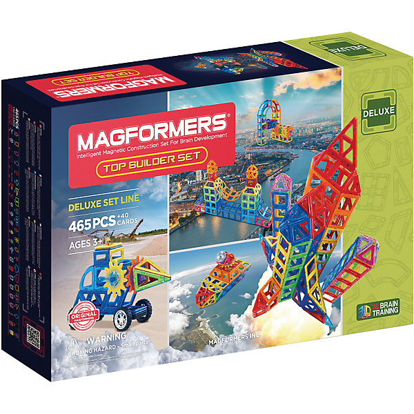 MAGFORMERS Магнитный конструктор Magformers Top Builder set classic world конструктор super builder set