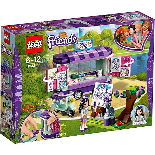 Конструктор LEGO Friends 41332: Передвижная творческая мастерская ЭммыLEGO Friends<br>Характеристики товара:<br><br>• возраст: от 6 лет;<br>• серия LEGO: Friends;<br>• материал: пластик;<br>• количество деталей: 210 шт.;<br>• в наборе: передвижная мастерская, мопед, шлем, картины, карандаш, мольберт, кассовый аппарат, денежная купюра, чашка;<br>• количество минифигурок: 2;<br>• размер упаковки: 19х26х6 см;<br>• вес упаковки: 299 гр.;<br>• страна бренда: Дания.<br><br>Конструктор LEGO Friends: «Передвижная творческая мастерская Эммы» представляет собой площадку для создания и продажи картин.<br><br>Эмма и ее котенок Чико каждый день приезжают в парк на мопеде. Здесь девочка ставит мольберт, открывает свой магазин на колесах и приступает к творчеству.<br><br>Особенности и функционал:<br><br>• вращающиеся колеса;<br>• фургон открывается тремя способами;<br>• фургон крепится к мопеду;<br>• картины крепятся на створки окон;<br>• подходит для использования с другими наборами серии LEGO Friends.<br><br>Конструктор LEGO Friends 41332: «Передвижная творческая мастерская Эммы» можно купить в нашем интернет-магазине.<br>Ширина мм: 259; Глубина мм: 192; Высота мм: 66; Вес г: 299; Возраст от месяцев: 72; Возраст до месяцев: 144; Пол: Женский; Возраст: Детский; SKU: 7221472;