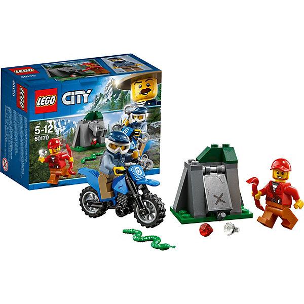LEGO Конструктор LEGO City 60170: Погоня на внедорожниках конструктор lego city погоня в горах 303 элемента 60173