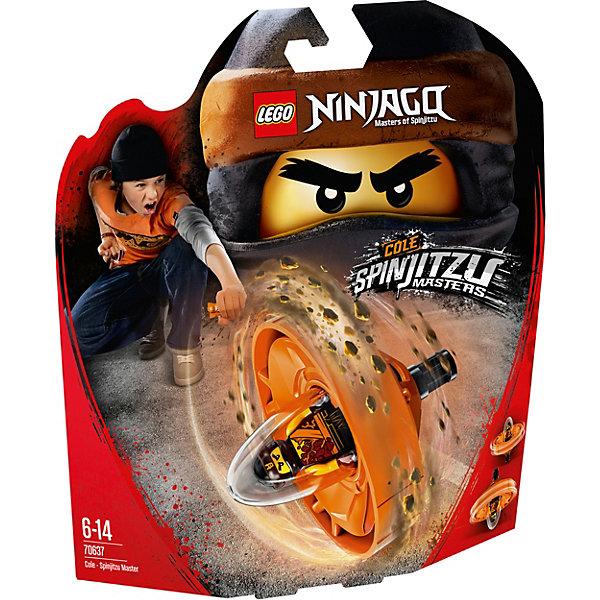 Фигурка с пусковым устройством LEGO Ninjago 70637: Коул — Мастер КружитцуКонструкторы<br>Характеристики товара:<br><br>• возраст: от 6 лет;<br>• серия LEGO: Ninjago;<br>• материал: пластик;<br>• количество деталей: 69 шт.;<br>• количество минифигурок: 1;<br>• в наборе: спиннер, молот на подставке, сюрикэны, стержень;<br>• размер спиннера: 14х8х3 см;<br>• размер упаковки: 25х22х6 см;<br>• вес упаковки: 167 гр.;<br>• страна бренда: Дания.<br><br>Из деталей конструктора LEGO Ninjago: «Коул — Мастер Кружитцу» получается необычная игрушка с пусковым устройством, которое удобно брать с собой и устраивать игры с друзьями.<br><br>Фигурка помещается в отсек для полета, ребенок берется за рукоять и стержень, и начинается игра. Играть фигуркой можно и на земле, а главным оружием Коула будут молот и сюрикэны.<br><br>Особенности и функционал:<br><br>• для запуска спиннера нужно вставить стержень в специальное отверстие и резко потянуть его, таким образом капсула с фигуркой отсоединится от рукояти и полетит вперед;<br>• подходит для использования с другими наборами серии LEGO Ninjago.<br><br>Фигурку с пусковым устройством LEGO Ninjago 70637: «Коул — Мастер Кружитцу» можно купить в нашем интернет-магазине.<br>Ширина мм: 253; Глубина мм: 231; Высота мм: 63; Вес г: 160; Возраст от месяцев: 72; Возраст до месяцев: 168; Пол: Мужской; Возраст: Детский; SKU: 7221543;
