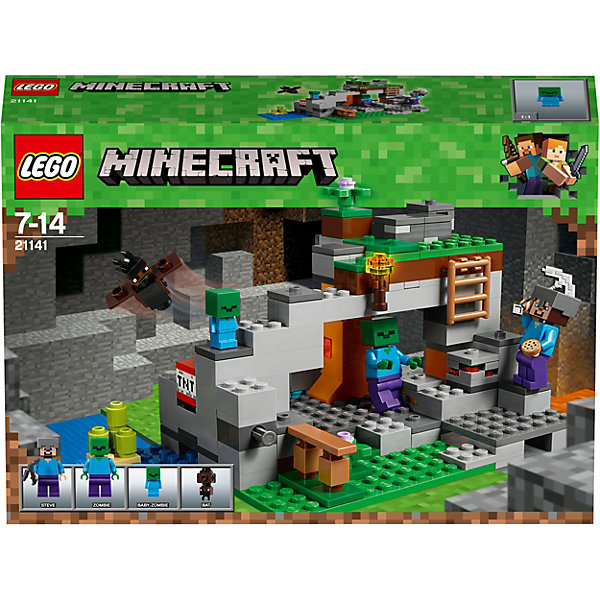 LEGO Конструктор LEGO Minecraft 21141: Пещера зомби