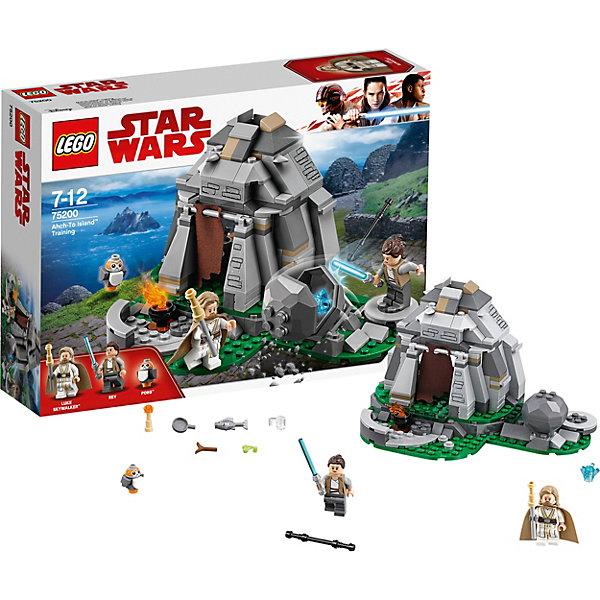 LEGO Star Wars 75200: Тренировки на островах Эч-ТоЗвездные войны<br>Характеристики товара:<br><br>• возраст: от 7 лет;<br>• серия LEGO: Star Wars;<br>• материал: пластик;<br>• количество деталей: 241 шт.;<br>• количество минифигурок: 3;<br>• наклейки;<br>• дополнительные аксессуары;<br>• размер упаковки: 6 х 19 х 26 см;<br>• страна производитель: Чехия, Дания.<br><br>Набор состоит из 241 детали и включает 3 минифигурки. Воссоздайте атмосферу острова Эч-то и сцену из фильма «Звёздные войны VIII: Последние Джедаи».<br><br>Особенности:<br><br>• по 2 выражения лиц у минифигурок Люка и Рей;<br>• вращающаяся платформа для тренировки Рей;<br>• камень раскалывается на 2 части после удара Рей, внутри кристалл;<br>• механизм разрушения стены при нажатии на деталь.<br><br>LEGO Star Wars 75200: Тренировки на островах Эч-То можно купить в нашем интернет-магазине.<br>Ширина мм: 262; Глубина мм: 61; Высота мм: 191; Вес г: 355; Возраст от месяцев: 84; Возраст до месяцев: 144; Пол: Мужской; Возраст: Детский; SKU: 7221563;