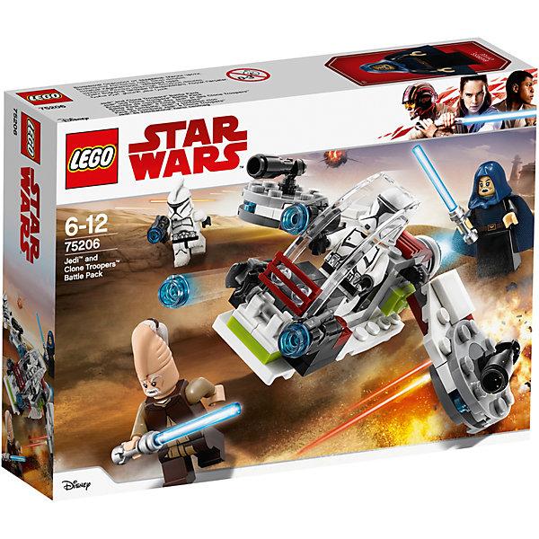 Фото LEGO Конструктор LEGO Star Wars 75206: Боевой набор джедаев и клонов-пехотинцев